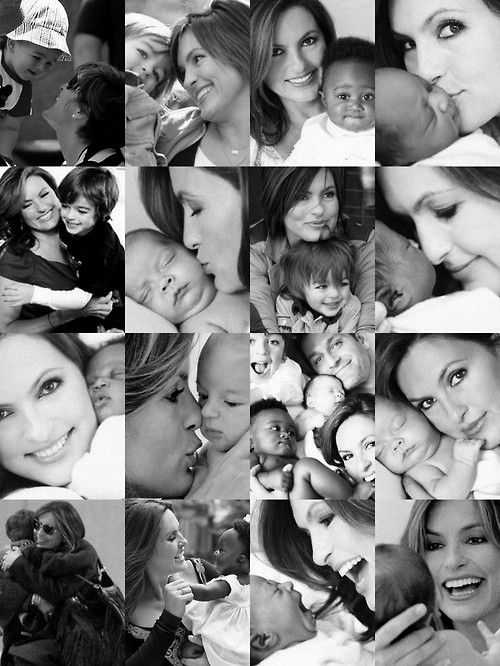 Mariska Hargitay and her children. Every single one of these is precious! (: