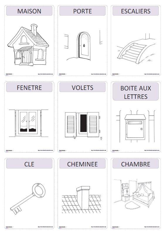 un imagier th matique proposant 59 cartes et affiches sur le th me de la maison le salon la. Black Bedroom Furniture Sets. Home Design Ideas