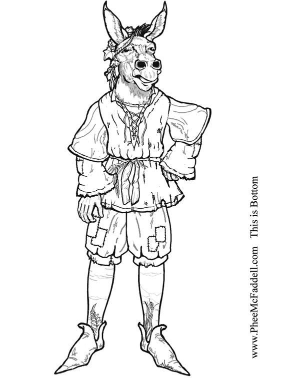 midummer nights dream coloring pages - photo#25