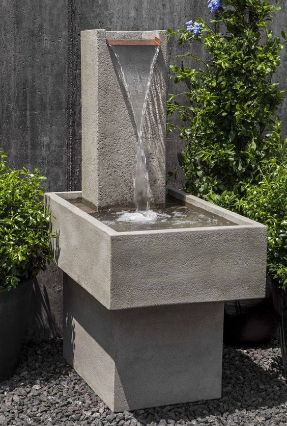 Wasserfall-Brunnen Sichtbeton grau, glatt #Metten Wasser im - wasserfall im garten modern