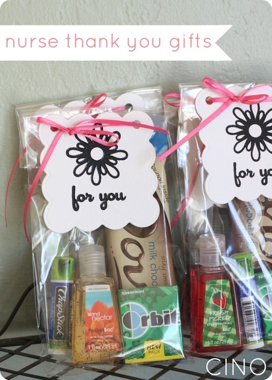 Nurse gift for when you deliver - definitely doing this and these are great things to include!! - in-the-corner