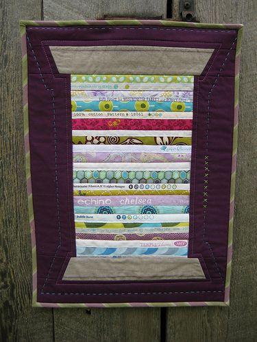 Variegated Thread Selvage Mini Quilt