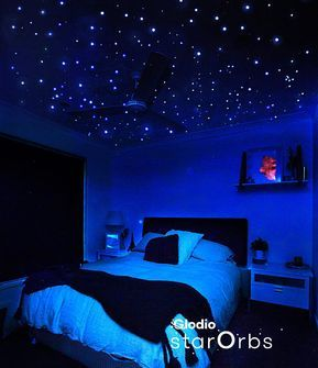 Tiny But Bright Glow In The Dark Stars Ceiling Decals For Etsy In 2021 Star Ceiling Bedroom Design Room Ideas Bedroom
