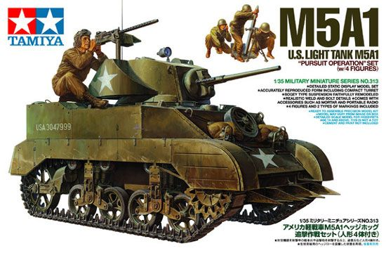 Maquette Tamiya 35313 US Light Tank M5A1