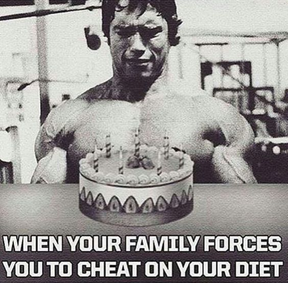 When your family forces you to cheat on your diet.