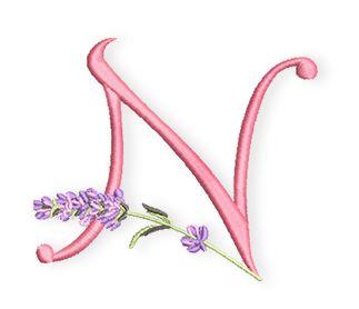 """Letzte Woche war """"Bergfest"""" und heute beginnt bereits die 2. Hälfte des Lavendel-Alphabets. Das N ist der 14 Buchstabe im Alphabet und das habe ich Euch heute mitgebracht.  Nora, Natascha, Nele und Ninakönnen nun ihr Monogramm sticken.  Wusstet Ihr eigentlich, dass Lavendel nicht nur gut duftet und beim Einschlafen hilft? Er ist auch eine sehr gute kulinarische Ergänzung. Ich mache mir de ..."""
