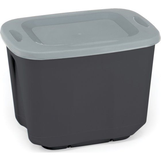 Homz 10 Gallon Ecostorage Tote Black Set Of 10 Storage Tubs Storage Totes Plastic Box Storage