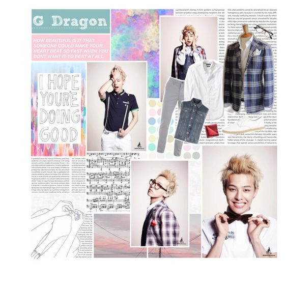 """G-Dragon"" by highlyfunctioningsociopath ❤ liked on Polyvore featuring BasicGrey, Banana Republic, Yohji Yamamoto, Tyler & Tyler, Ray-Ban, men's fashion, menswear, bigbang, kpop and gdragon"
