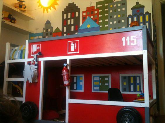 Kura Bed Hack For A Little Firefighter Ikea Hacks