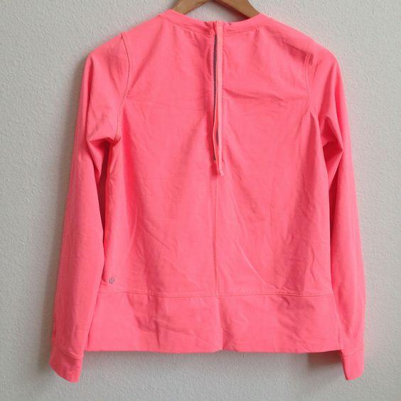 Lululemon Coral Long Sleeve Shirt Rash Guard Size 6 #Lululemon #ShirtsTops