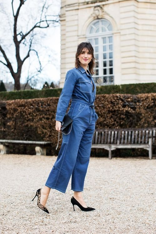Estilo Denim en el Street Style Paris Fashion Week spring 2018