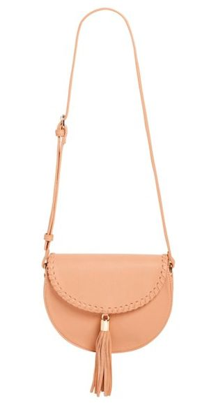 cute beige tassel crossbody bag