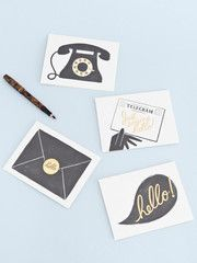 These cute little notelets from Papermash are adorable... scribble a message or frame them!