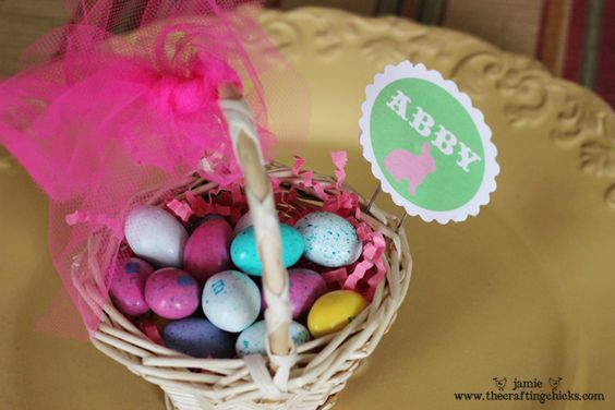 Easter Basket Place Card Holders