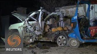 0:50  Al Shabaab militants bomb Somali beach restaurant