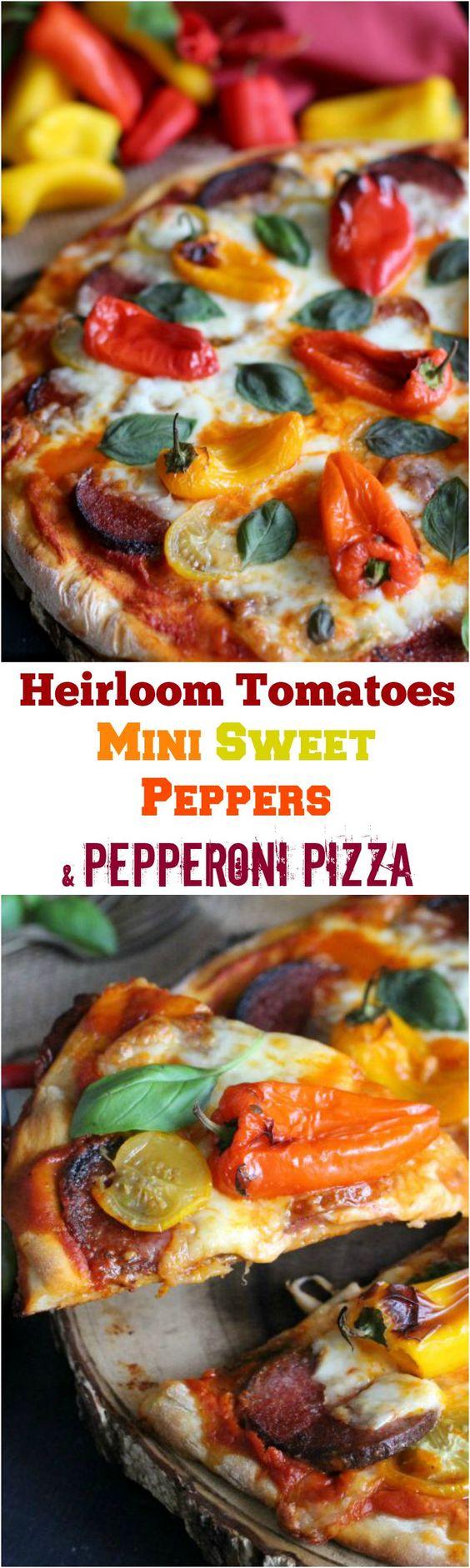 ... Basil Pizza | Recipe | Mini Sweet Peppers, Heirloom Tomatoes and Basil