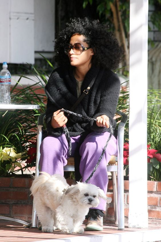 Photo of Tracee Ellis Ross & her Dog