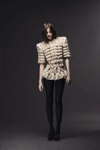 Last Breath Bruises Collection - knitwear by Swedish designer Sandra Backlund.