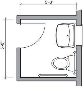 Three Quarter Bath Floor Plan