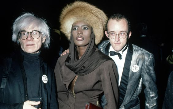 Andy Warhol, Grace Jones, and Keith Haring