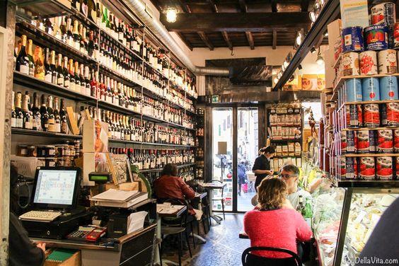 Outstanding Location, eating in the middle of a Deli Store in Rome at Roscioli Saumeria Ristorante -    https://joydellavita.com/cacioepepe-rome-roscioli-salumeria-ristorante/