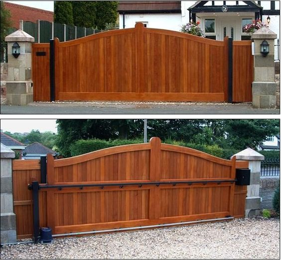 Gates driveways and design on pinterest for Sliding driveway gate hardware