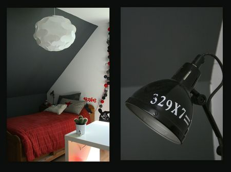 deco chambre ado lampe chevet sam pinterest deco. Black Bedroom Furniture Sets. Home Design Ideas