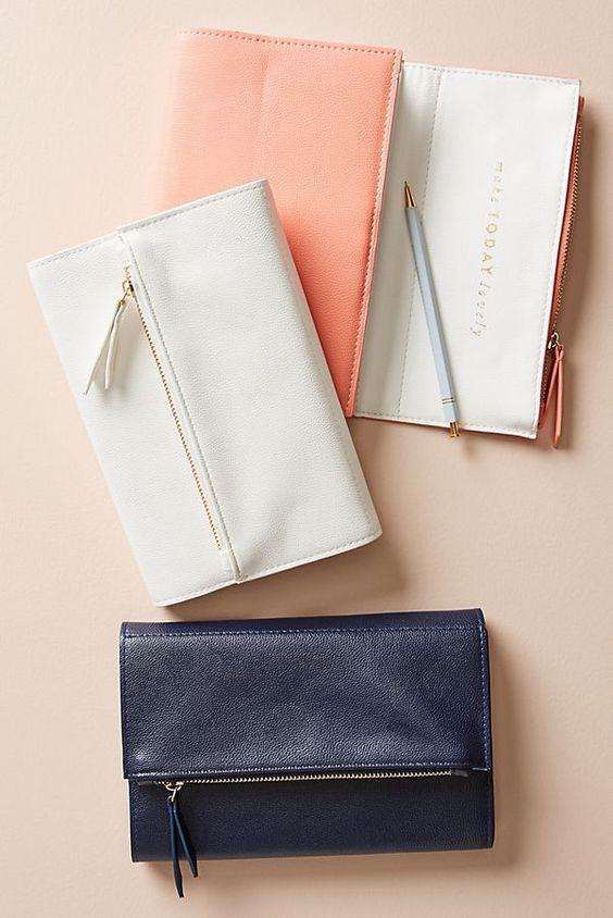 Slide View: 1: Zippered Clutch Journal