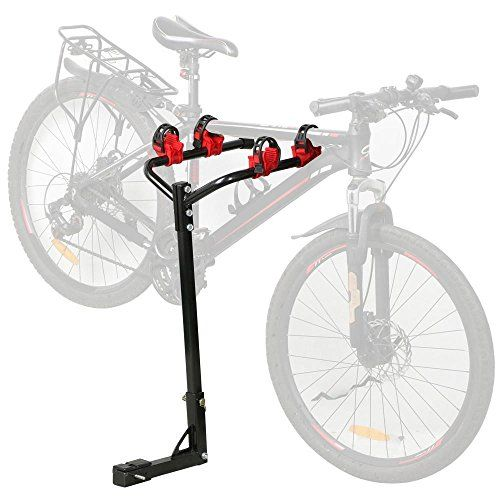 Topeakmart Heavy Duty Bicycle Hitch Mount Carrier Bike Rack Red And Black Review Bike Rack Bicycle Mountain Bike Brands