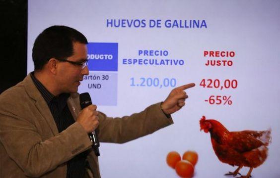"""El vicepresidente de la República, Jorge Arreaza informó que este miércoles inició la reunión con los sectores para evaluar las cadenas productivas y avanzar """"a los precios justos,  no viendo el producto final sino la cadena productiva completa""""."""