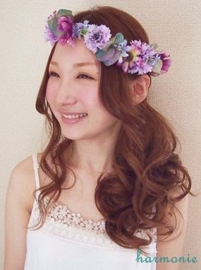 髪型 花冠 髪型 : pinterest.com
