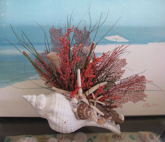 Home seashells and centerpieces on pinterest