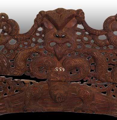 Dintel de la casa de un jefe maori arte rupestre for Dintel de madera