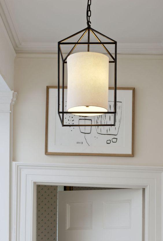 vaughans ladbroke lantern furniture table fabric lighting lamp lampshade design british lighting designers