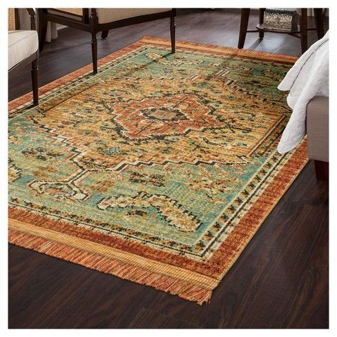Floral Woven Accent Rug Threshold Target Rug Rugs Green Rug