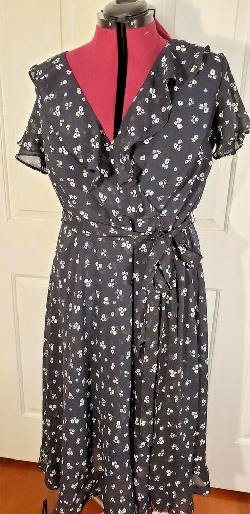 Wrap Maxi Summer Dress Polka Dot Beautiful BNWT Sizes 14,16,18 Trending