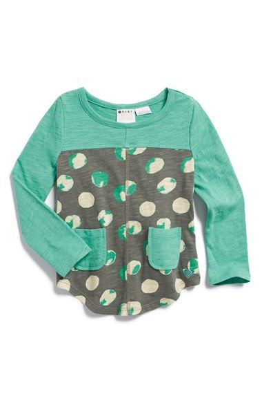 Roxy 'Sea Spray' Cotton Tee (Toddler Girls, Little Girls & Big Girls)