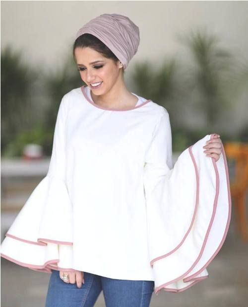 Ruffle blouse-Hijab fashion ideas for Easter – Just Trendy Girls