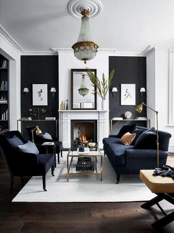 Modern Living Room Blue Velvet Couch Modern Design Minimalist Interior Scandi In 2020 Living Room Sets Furniture Modern Living Room Furniture Sets Living Room Grey #scandi #modern #living #room