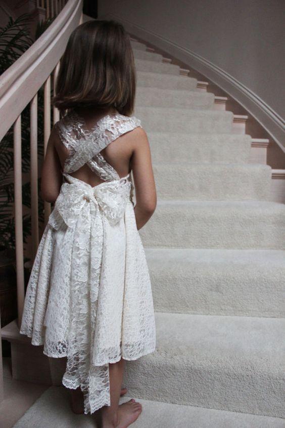 Hand Made Flower Girl Dress First Communion Dress by EliseRohr