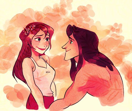 OTP part 1: Tarzan and Jane by MomoChanxX on deviantART