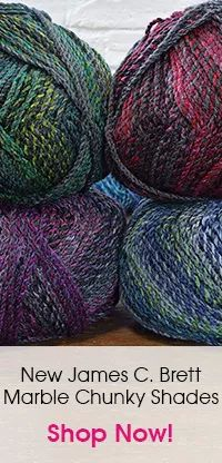 Sweater And Slipover In James C Brett Marble Chunky