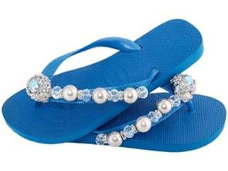 The #Mykonos #sandal channels the blue-white architecture and crystal waters found on this #Greek island...be a #Goddess in these #flip-flops!