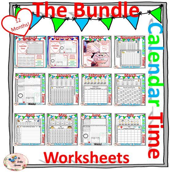 CALENDAR TIME MORNING WORK - Bundle | Interactive Activities ...