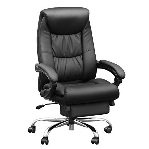Duramont Reclining Leather Office Chair With Lumbar Support High