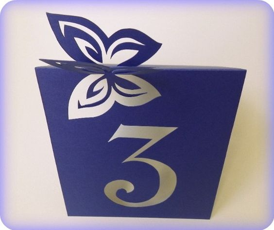 Table Numbers, Butterfly, Cutout, Scrapbook, Papercut by Mama Tita: