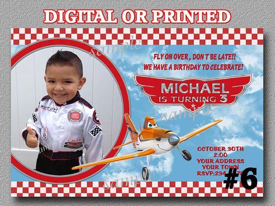 Disney Planes Invitations YOU Print Digital by LetsPartyShoppe