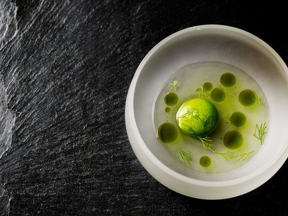 Shrimp cocktail at our Michelin star restaurant Kokkeriet, Copenhagen - Denmark.