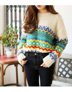 Women's Simple Beige Sweater  - 27A55827