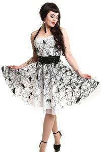 Gothic Kleid im Corsagenlook - Black Crows